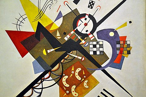 On White II, Vassily Kandinsky, Musee National d'Art Moderne, Centre Georges Pompidou, Beaubourg, Paris, Ile-de-France, France, Europe