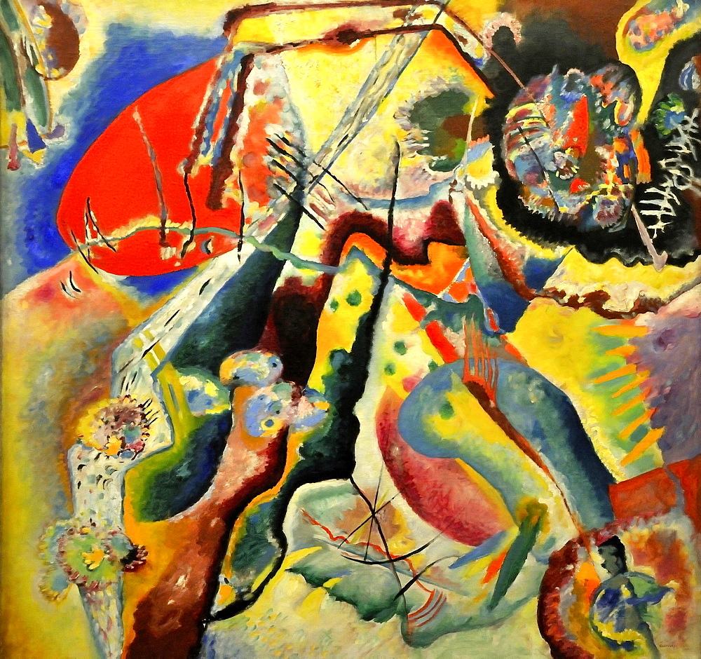 The Red Spot, Vassily Kandinsky, Musee National d'Art Moderne, Centre Georges Pompidou, Beaubourg, Paris, Ile-de-France, France, Europe