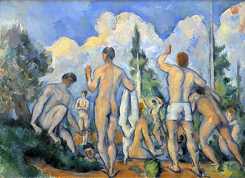 Bathers, Paul Cezanne, Musee d'Orsay, Paris, Ile-de-France, France, Europe