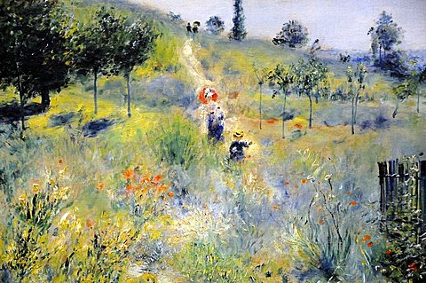 Path Climbing Through Long Grass, Pierre-Auguste Renoir, Musee d'Orsay, Paris, Ile-de-France, France, Europe