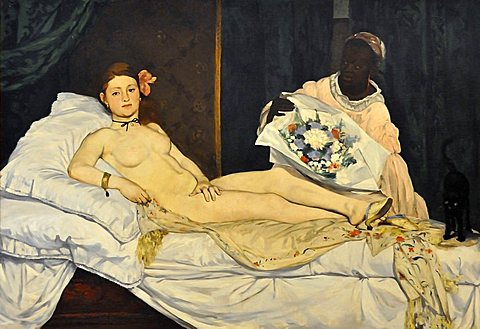 Olympia, edouard Manet, Musee d'Orsay, Paris, Ile-de-France, France, Europe