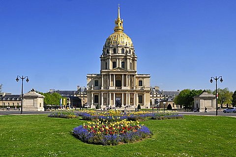 Dome des Invalides, Rive Gauche, Paris, Ile-de-France, France, Europe