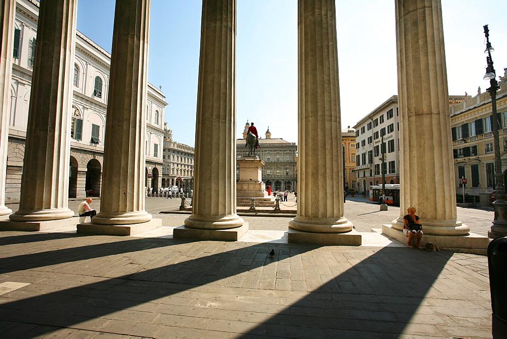 Teatro Carlo Felice theater, Piazza De Ferrari, Genoa, Ligury, Italy, Europe