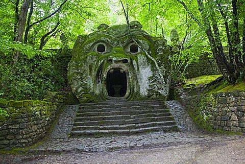 Door of hell, Parco dei Mostri monumental complex, Bomarzo, Lazio, Italy