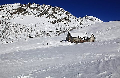 Ca' Runcash hut, Valmalenco valley, Valtellina valley, Lombardy, Italy