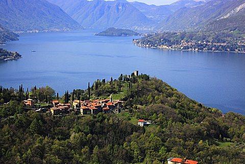Vezio castle, Como lake, Lombardy, Italy