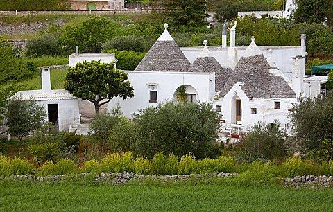 Trulli near Locorotondo, Puglia, Italy