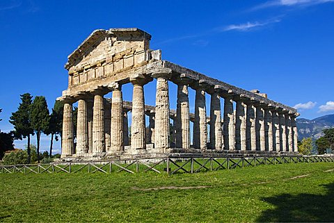Athena Temple, Paestum archaeological area, Campania, Italy