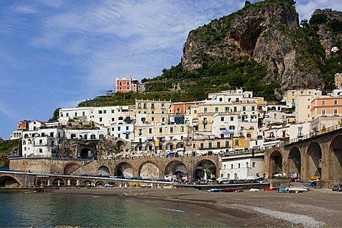 Cityscape, Minori, Gulf of Salerno, Amalfi Coast, Campania, Italy