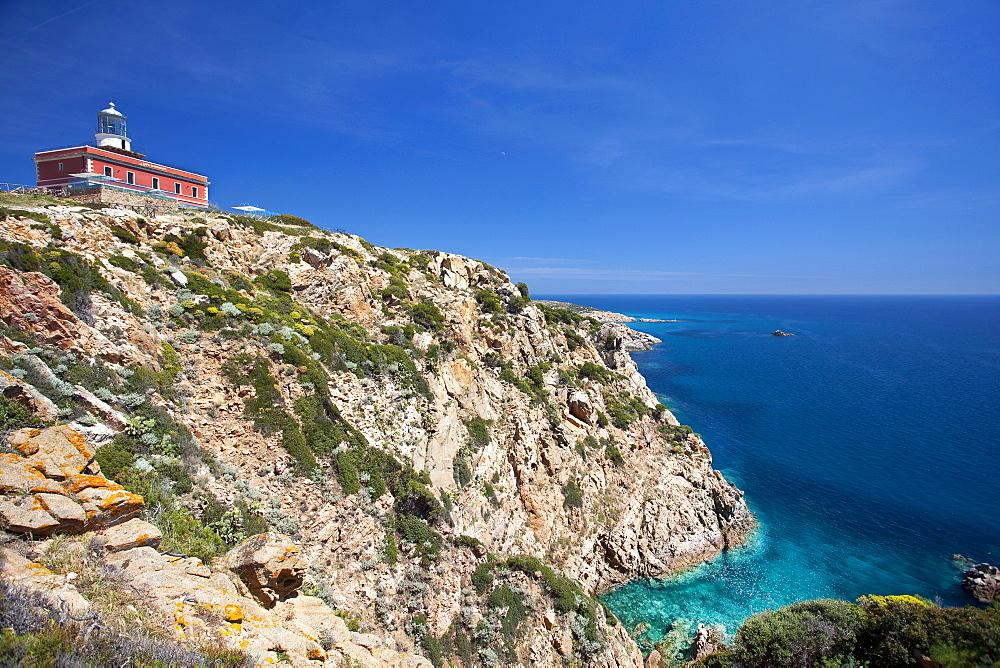 Faro di Capo Spartivento lighthouse, Domus De Maria (CA), Sardinia, Italy