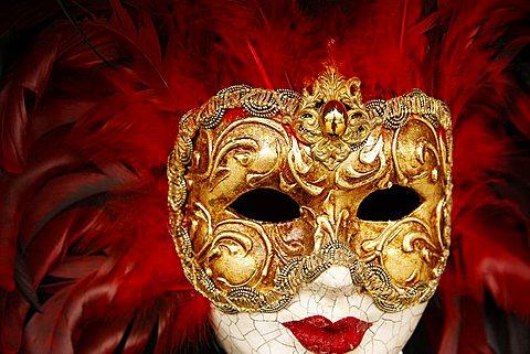 Venetian carnival mask, Venice, Veneto, Italy, Europe
