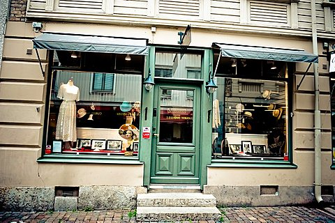 Vintage shop, Haga, Goteborg; West Coast; Sweden; Europe