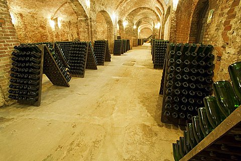 Bosca underground wine cathedral in Canelli, Asti, Piedmont, Italy