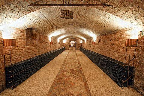 Contratto underground wine cathredral in Canelli, Asti, Piedmont, Italy, Europe