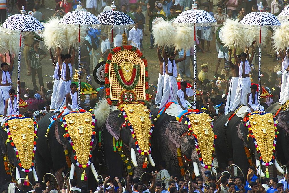 Kudamattam competition, Thrissur Pooram festival, Thrissur, Kerala, India, Asia - 746-74836
