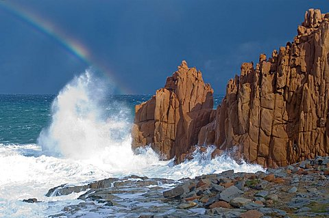 Rainbow, Rocce Rosse, Arbatax, TortolvO, Ogliastra, Sardinia, Italy