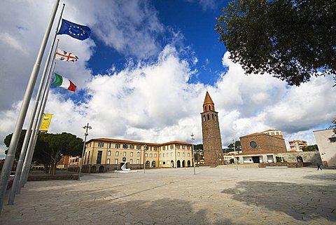 Roma Square, Carbonia, Sardinia, Italy, Europe