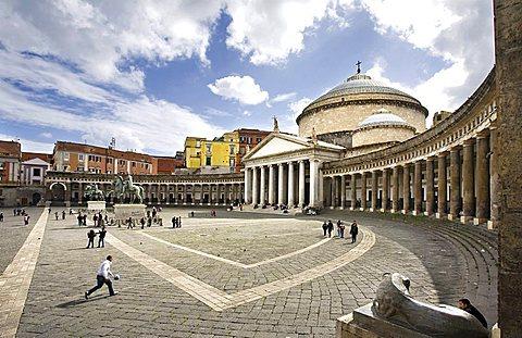 Piazza del Plebiscito square, Neaples,Campania,italy,Europe.