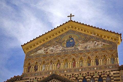 Favæade, Amalfi Cathedral, Cattedrale di Sant'Andrea, Amalfi, Campania, Italy, Europe