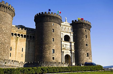 Maschio Angioino castle, Naples,Italy,Europe