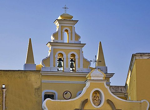 Santa Maria Visitapoveri curch, Forio d'Ischia, Ischia island, Campania, Italy, Europe