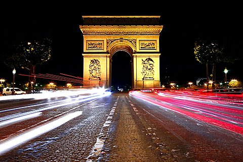 Arc de Triomphe, Champs Elysees, Paris, France, Europe