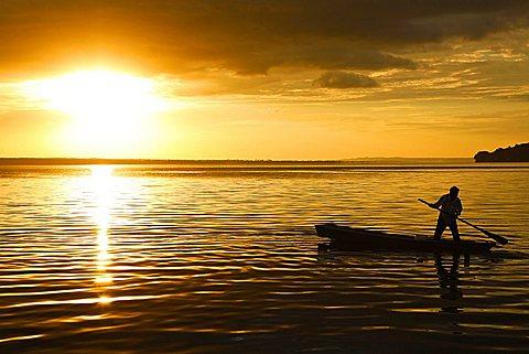 Lake of Flores, Peten, Guatemala, America
