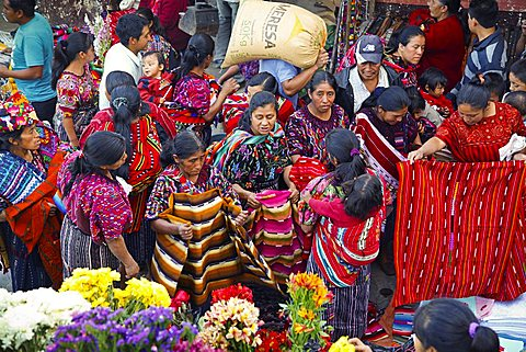 Chichicastenango market, Quichvû, Guatemala, America
