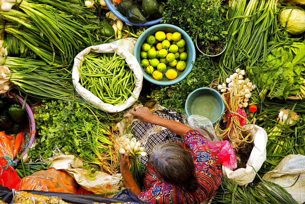 Chichicastenango food street market, Quichvû, Guatemala, America  - 746-77205
