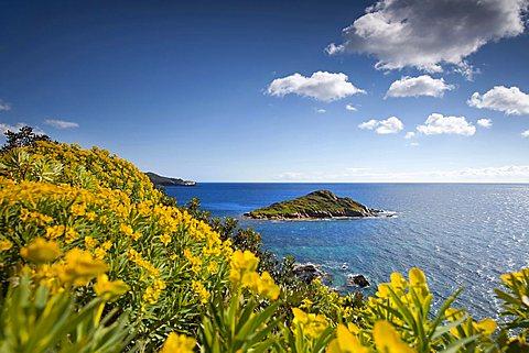 Porto di Campionna, Isola Campionna island, Teulada (CA), Sardinia, Italy, Europe