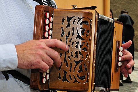 Typical sardinian accordion, Baunei, Sardinia, Italy
