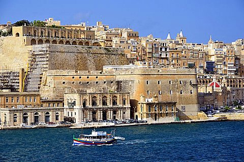 Vittoriosa harbour. Malta. Europe.
