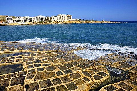 Salt pad in Marsaskala, Malta. Europe.