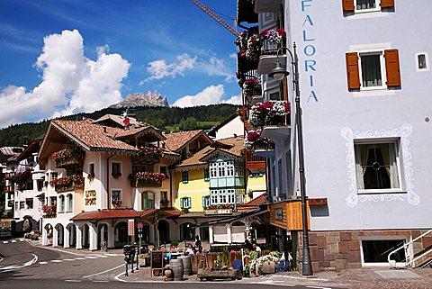Hotel Faloria, old town of Moena, Fassa valley, Trentino Alto Adige, Italy, Europe