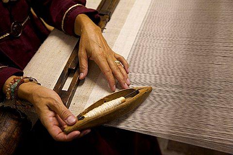 Loom weaving, Uva e dintorni festival, Avio, Vallagarina, Trentino Alto Adige, Italy, Europe