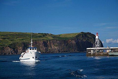 Fishing boat, Horta, Atlantic ocean, Fajal, Azores Island, Portugal, Europe