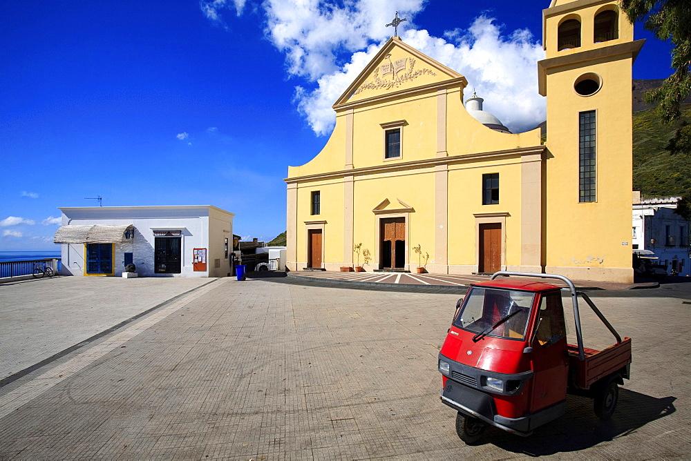 San Vincenzo church, Stromboli Island, Aeolian Islands, Sicily, Italy