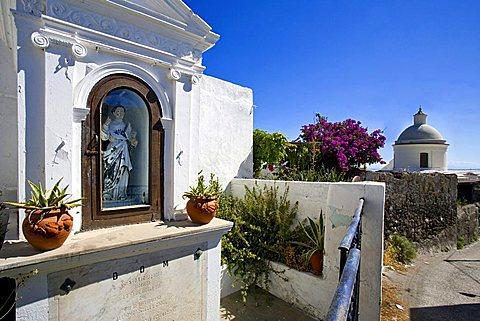 Little shrine, Stromboli Island, Aeolian Islands, Sicily, Italy