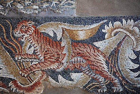 Mosaics, Villa del Tellaro, Noto, Sicily, Italy