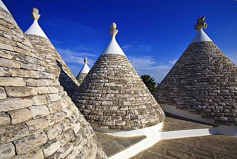 Conical roof of trulli, Itria Valley, Apulia, Italy