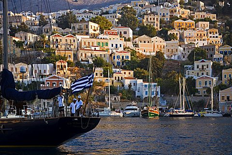 Harbour, Symi, Dodecanese, Greek Islands, Greece, Europe