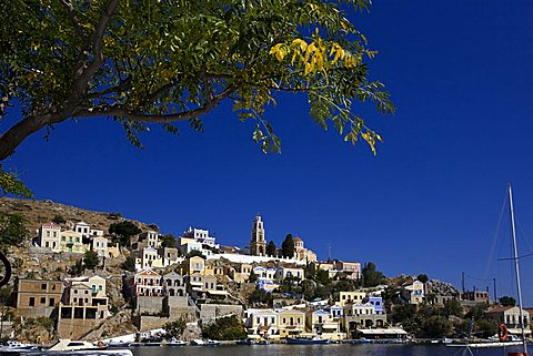 Cityscape, Symi, Dodecanese, Greek Islands, Greece, Europe