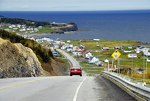 Coastal road, East Coast, Gaspesie, Gaspe peninsula, Quebec, Canada, North America