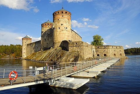 Olavi's Castle on the lake, Savonlinna, Southern Savonia, Finland, Scandinavia, Europe