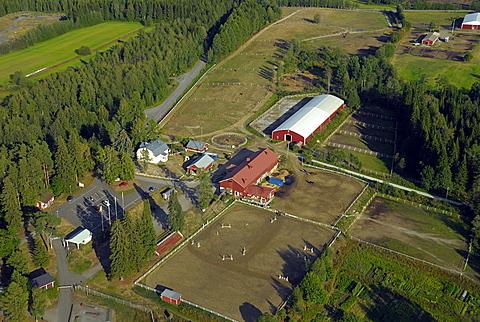 Aerial view, Savonlinna, Southern Savonia, Finland, Scandinavia, Europe