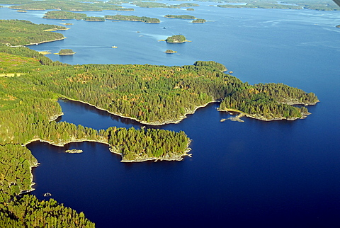 Archipelago on the lake, Savonlinna, Southern Savonia, Finland, Scandinavia, Europe