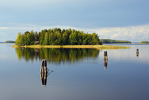 Island in the shore, Finland, Scandinavia, Europe