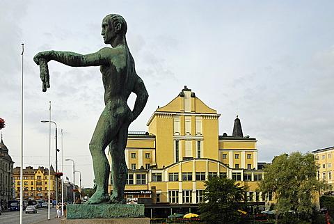 Foreshortening, Tampere, Pirkanmaa, Finland, Scandinavia, Europe