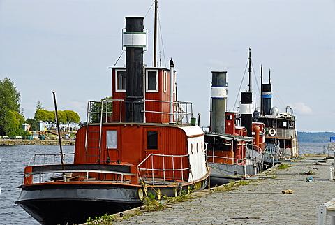 Old tugboat, Tampere, Pirkanmaa, Finland, Scandinavia, Europe