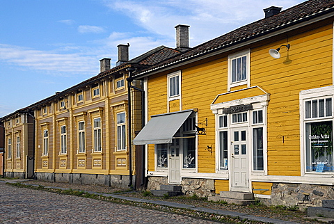 Wooden houses in old town, Rauma, Satakunta, Finland, Scandinavia, Europe